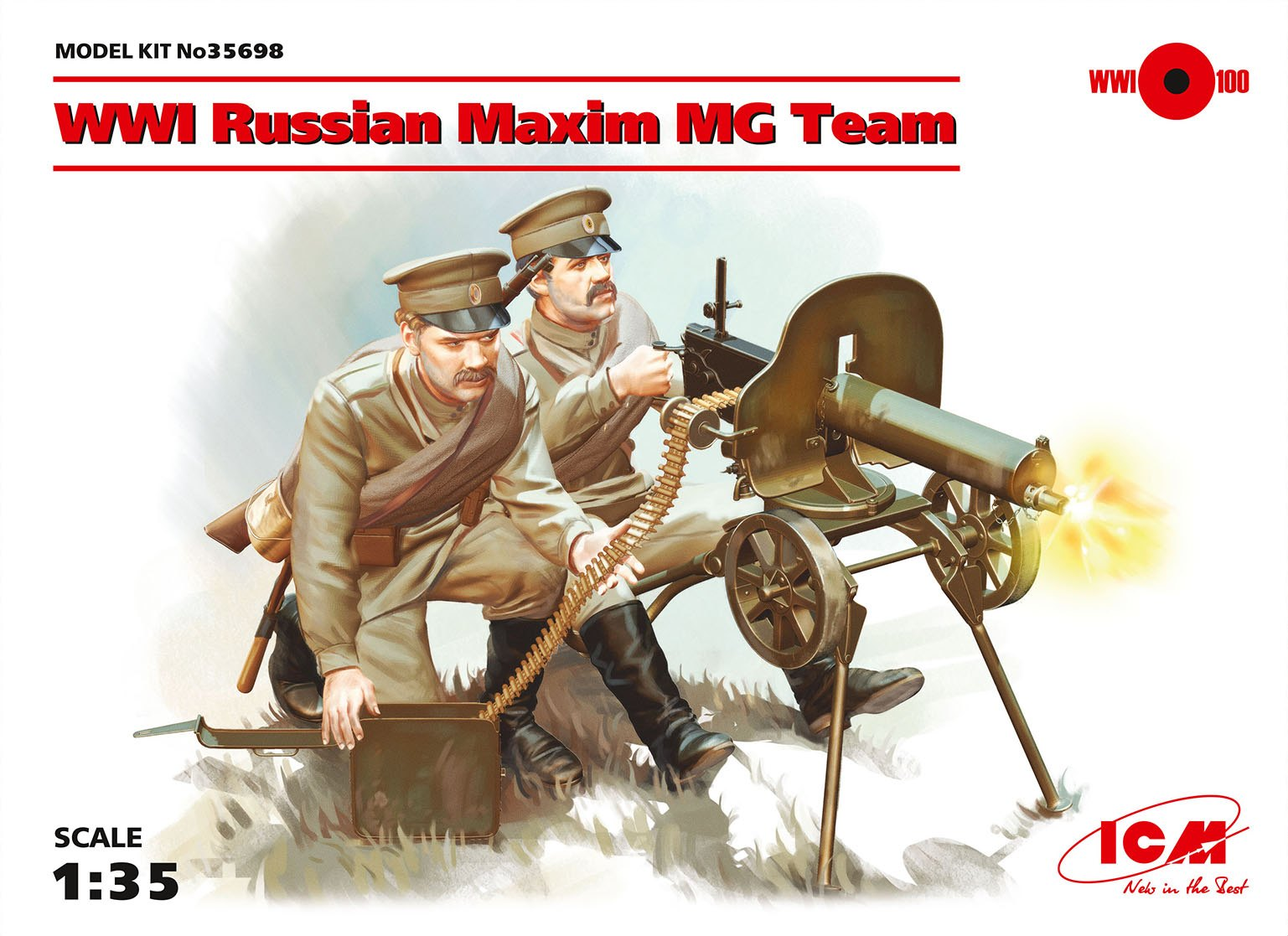 ICM 1/35 Russian Maxim MG Team # 35698