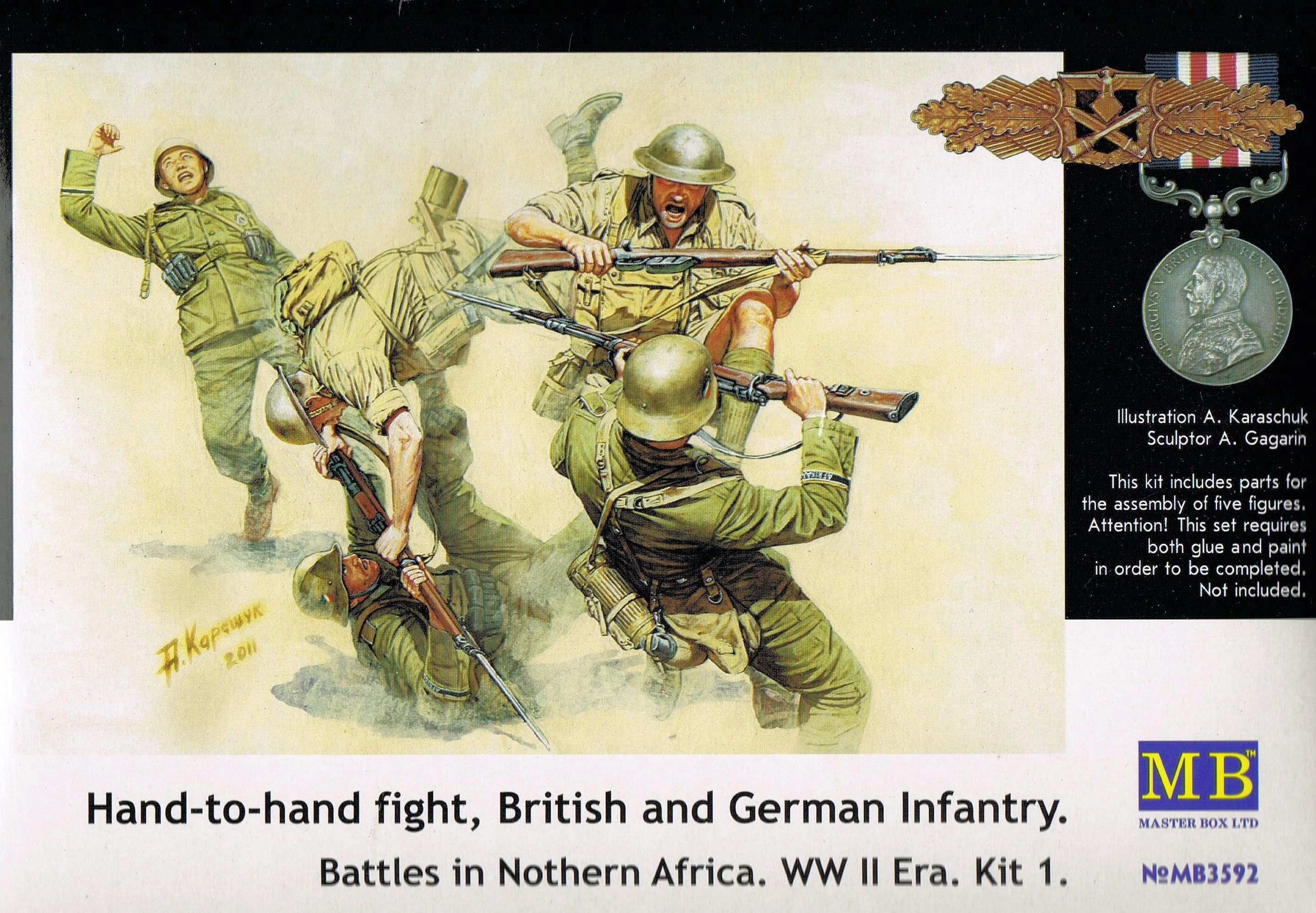 Master Box 1/35 Hand-to-Hand Fight, British and German Infantry # 3592