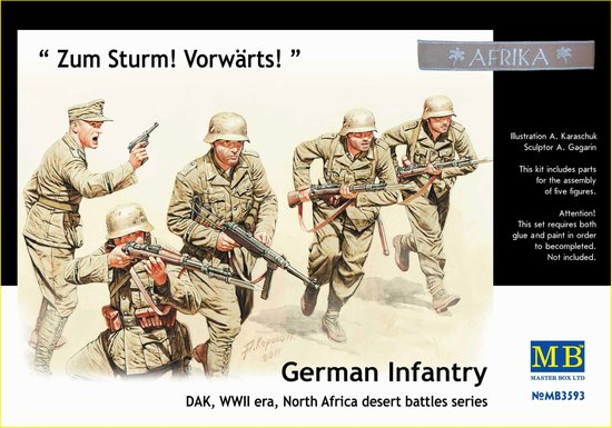 Master Box 1/35 GERMAN INFANTRY ZUM STURM! VORWARTS # 3593