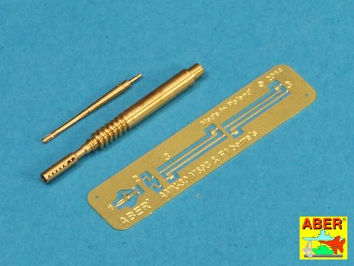 Aber 1/35 Barrel for 20 mm M693 autocannon and barrel for F1 7,62 machine gun for AMX-30 # 35L142