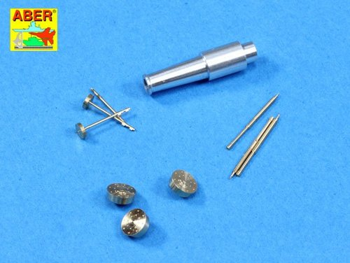 Aber 1/35 Set of barrels for Soviet tank T-28 Early: 1 x KT-28 (76,2 mm), 3 x Machine Gun DT (7,62 mm) # 35L175