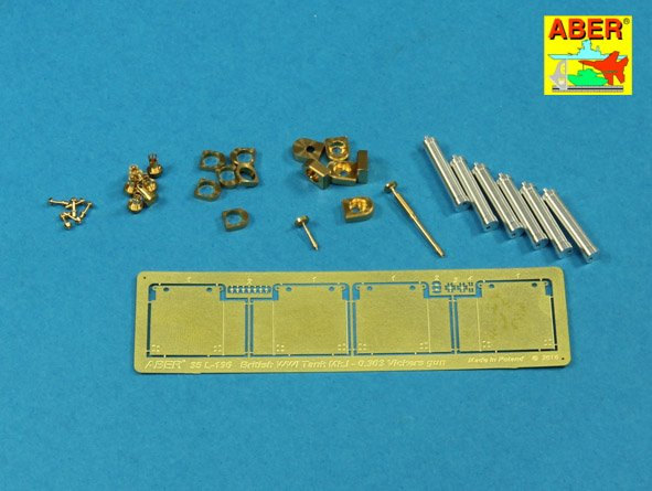 Aber 1/35 Barrels for British WWI Tank Mk.I Female or 0.303 Vickers gun x 4 8mm Hotchkiss m.1909 x 1 # 35L196
