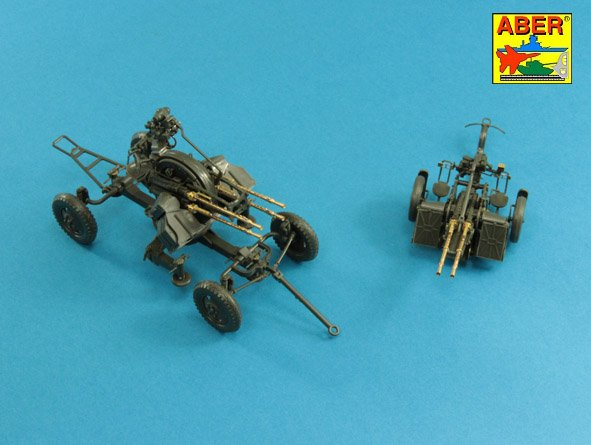 Aber 1/35 Set of 2 barrels for Russian 14,5 mm machine guns KPVT used on ZPU-2 or ZPU-4 # 35L222