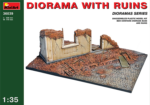 MiniArt 1/35 DIORAMA WITH RUINS # 36039
