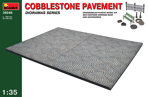 MiniArt 1/35 Coblestone Pavement # 36046