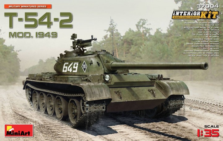 MiniArt 1/35 T-54-2 Mod. 1949 Interior Kit # 37004
