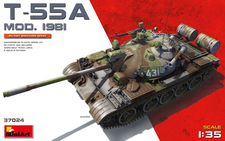 Miniart 1/35 T-55A Мод. 1981. # 37024