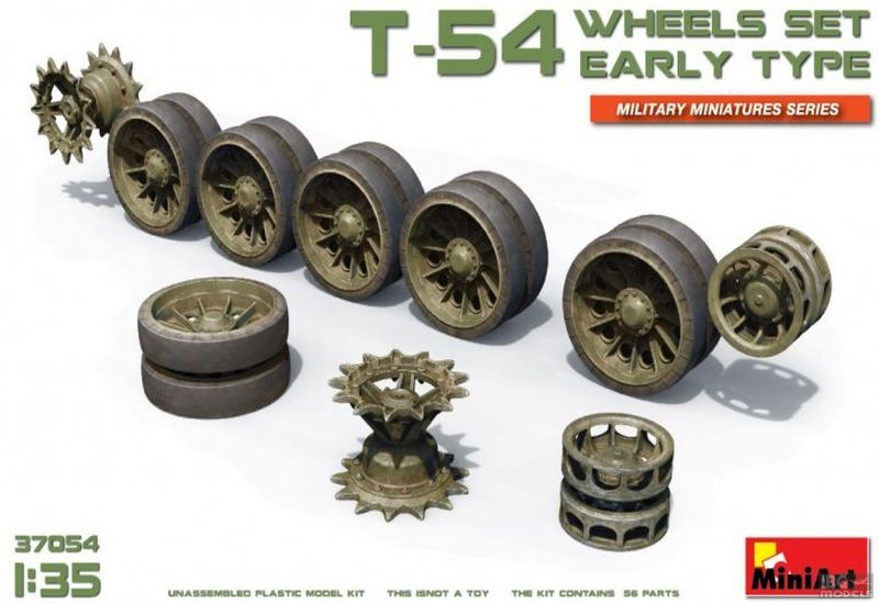 MiniArt 1/35 T-54 Wheels set early type # 37054