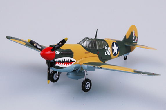 Easy Model 1/72 Curtiss P-40E Warhawk, 16th FS, 23rd FG, USAAF, 1942 # 37274