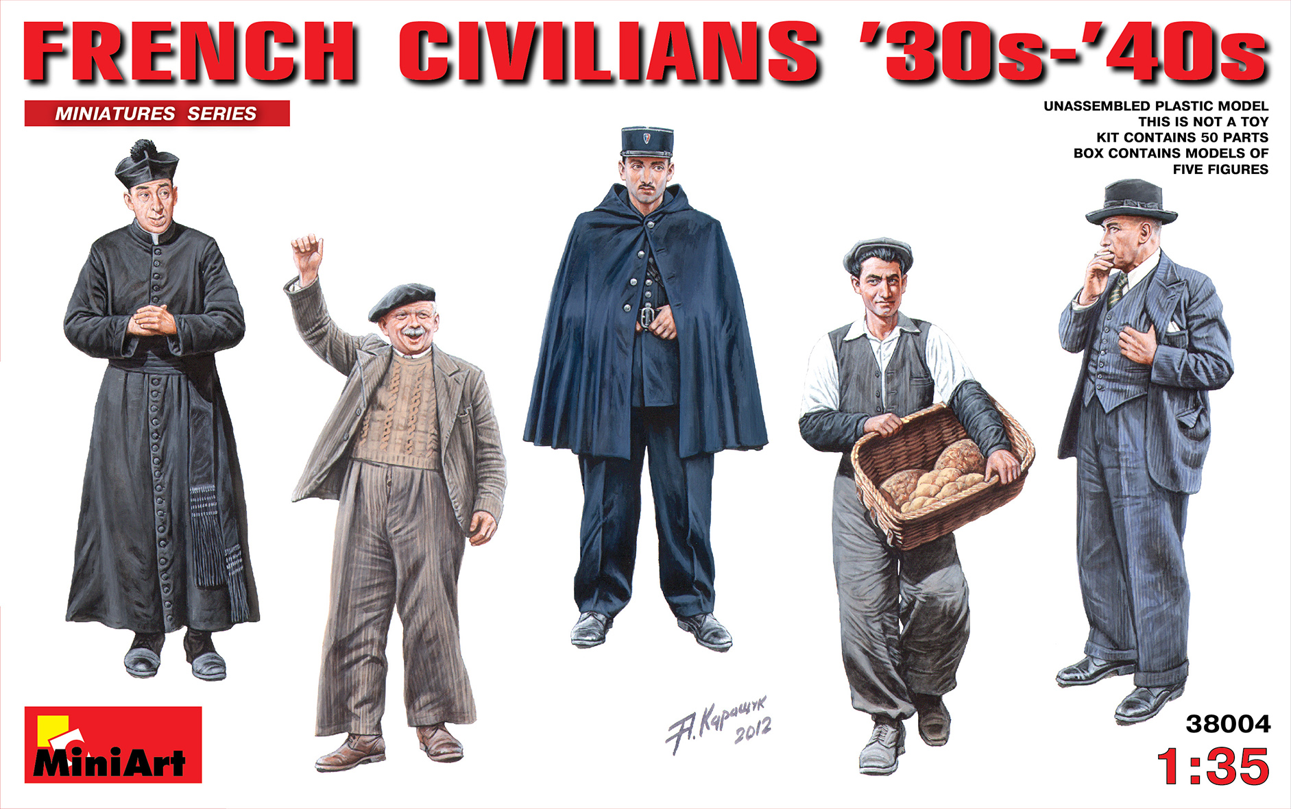 MiniArt 1/35 FRENCH CIVILIANS 30г.-40г. # 38004