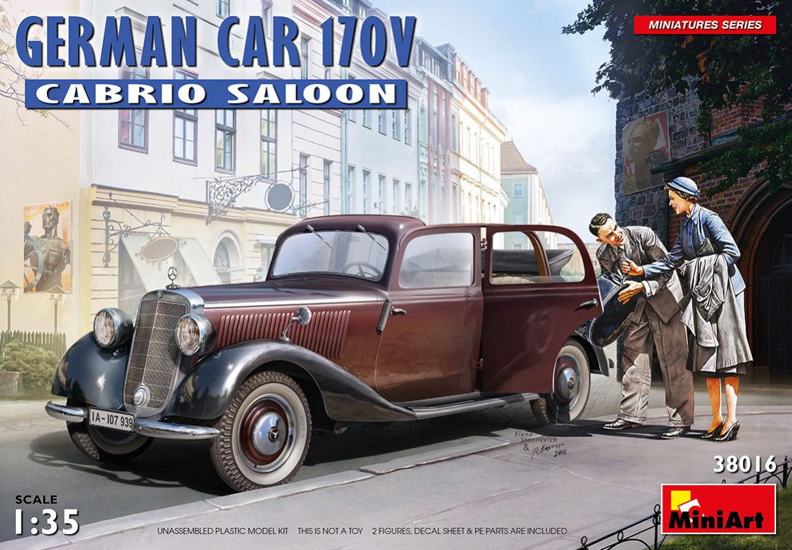MiniArt 1\35 German car 170V Cabrio saloon # 38016