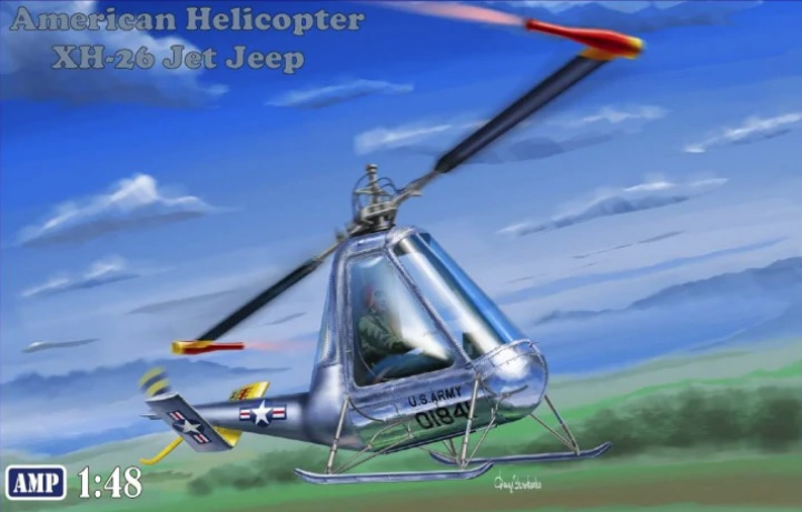 AMP 1/48 American Helicopter XH-26 Jet Jeep # 48007