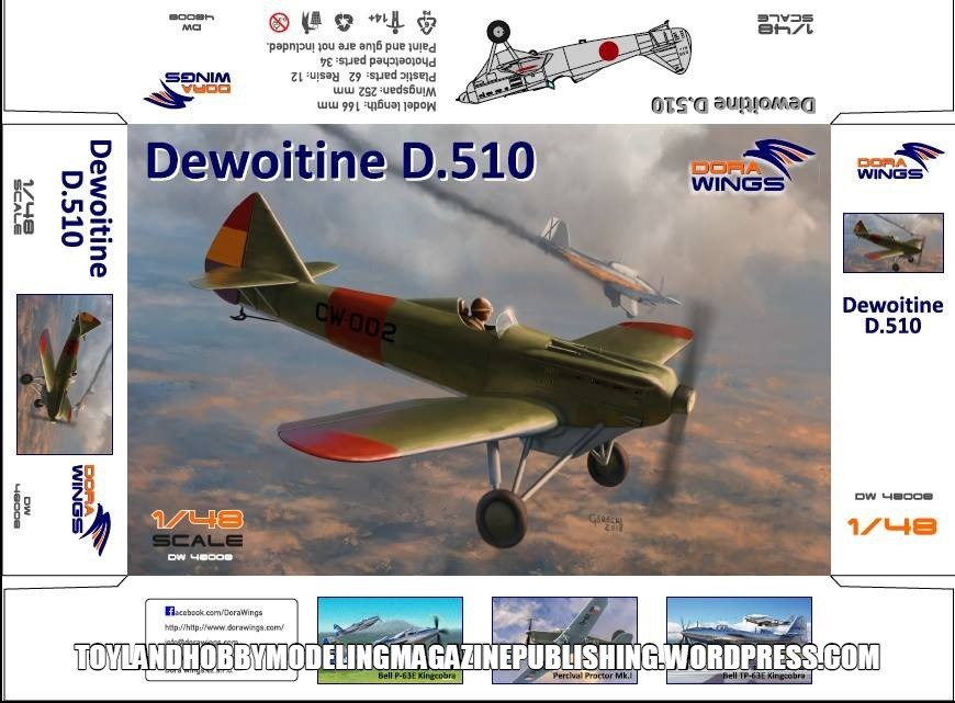 Dora Wings 1/48 Dewoitine D.510 Spanish civil war (+bonus Japan, NIJ) # 48008