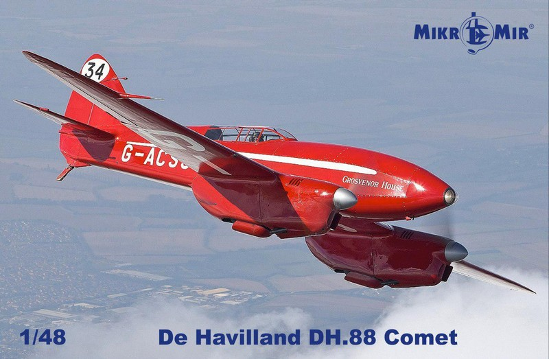MIKROMIR 1\48 Самолет de Havilland DH.88 Comet № 48017