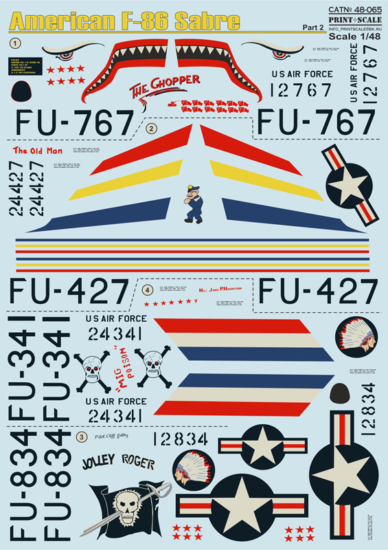 Print Scale 1/48 F-86 Sabre Mig Killer Part 2 # 48-065