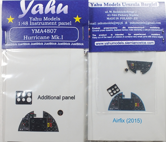 Yahu Models 1/48 Hawker Hurricane Mk.I Instrument Panel (for Airfix 2015) # 4807