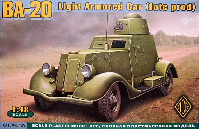 ACE 1/48 BA-20 Light Armored Car (late prod) # 48109