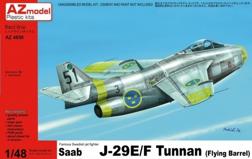 AZ-Model 1/48 Saab J-29E/F Tunnan # 4866