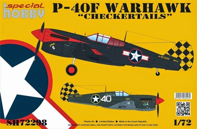 "Special Hobby 1\72 P-40F Warhawk ""Checkertails"" Limited Edition # 72298"