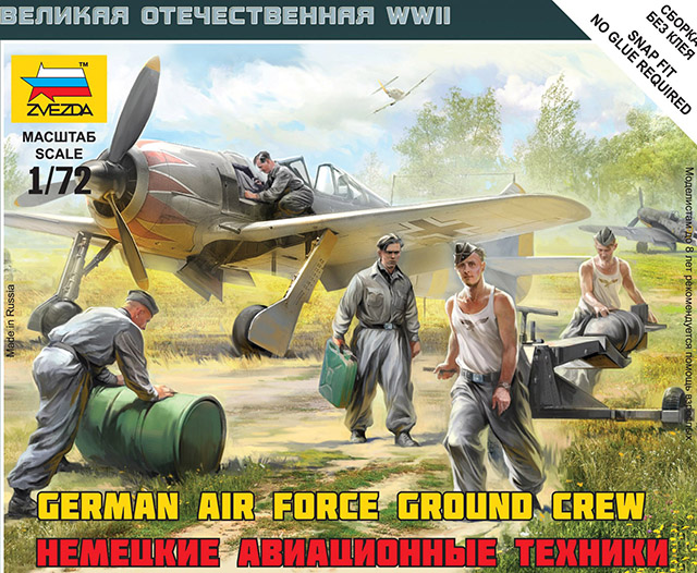 Zvezda  1/72 German Air Force Ground Crew # 6188