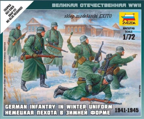Zvezda 1/72 German Infantry in Winter Uniform 1941-1945 # 6198