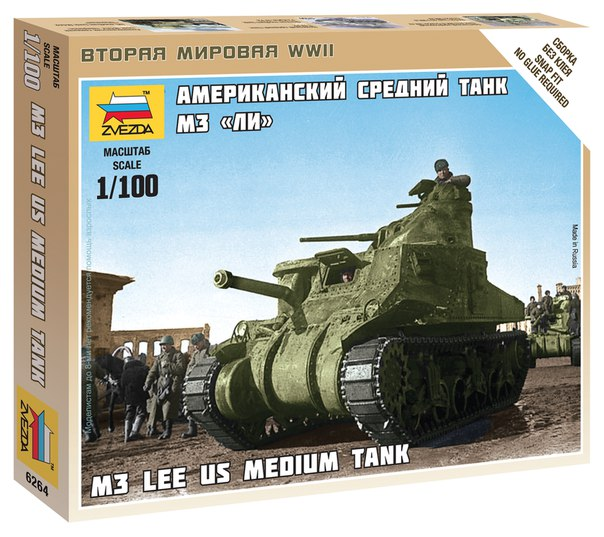 Zvezda 1/100 M3 Lee US Medium Tank # 6264