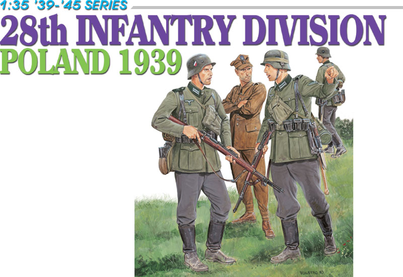 Dragon 1/35 28th Infantry Division Poland 1939 # 6344