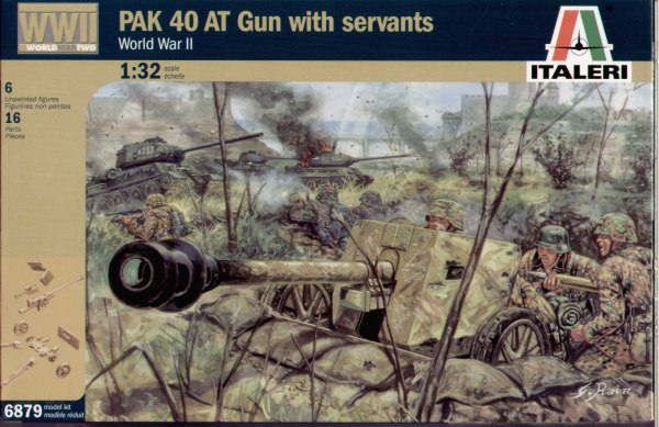 Italeri 1/32 PAK 40 AT Gun with crew # 6879