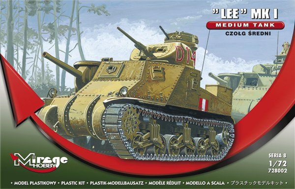 "Mirage Hobby 1/72 Medium Tank ""Lee"" Mk I # 728002"