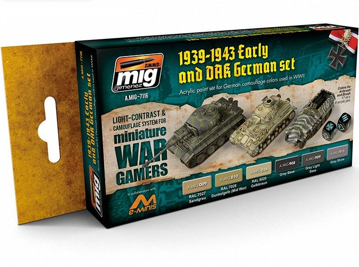 A-MIG WARGAME EARLY AND DAK GERMAN SET # 7116
