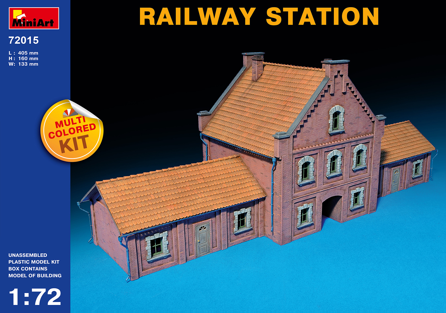 MiniArt 1/72 RAILWAY STATION # 72015