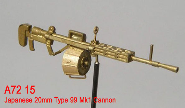 Mini World 1/72 Japanese 20mm Type 99 Mk1 Cannon # 72015