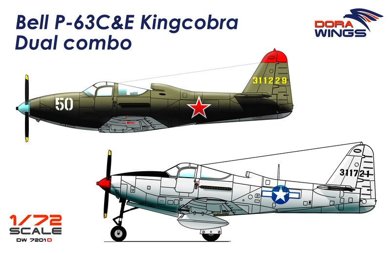 DORA WINGS 1/72 DRW 7201D P-63C&E Kingcobra # 7201D