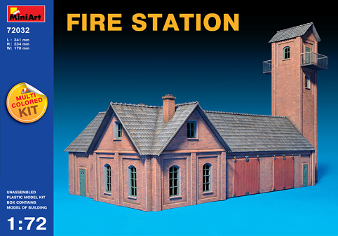 MiniArt 1/72 FIRE STATION # 72032