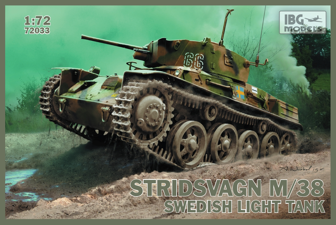 IBG 1/72  Stridsvagn m/38 Swedish light tank # 72033