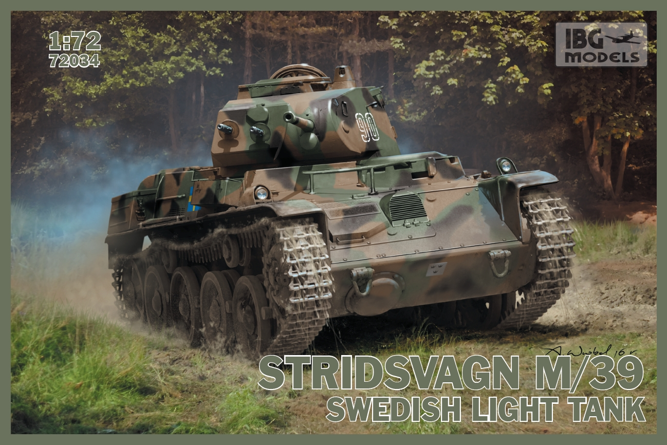 IBG 1/72 Stridsvagn m/39 Swedish light tank # 72034