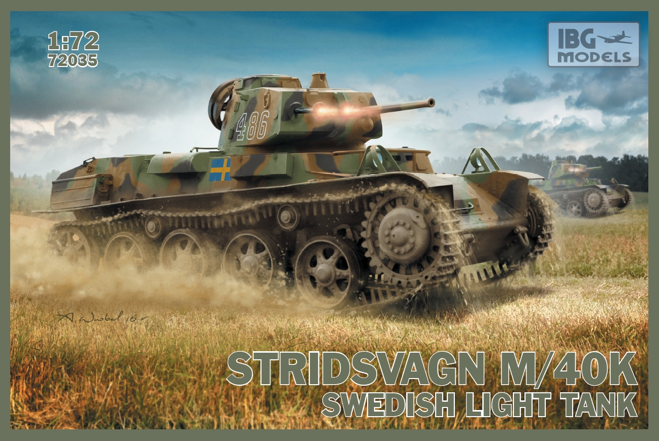 IBG 1/72 Stridsvagn m/40 K Swedish light tank  # 72035