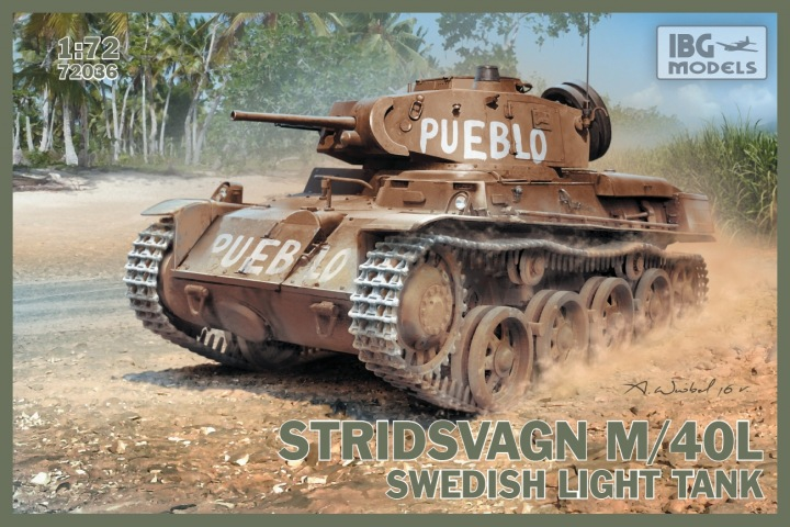 IBG 1/72 Stridsvagn m/40 L Swedish light tank # 72036