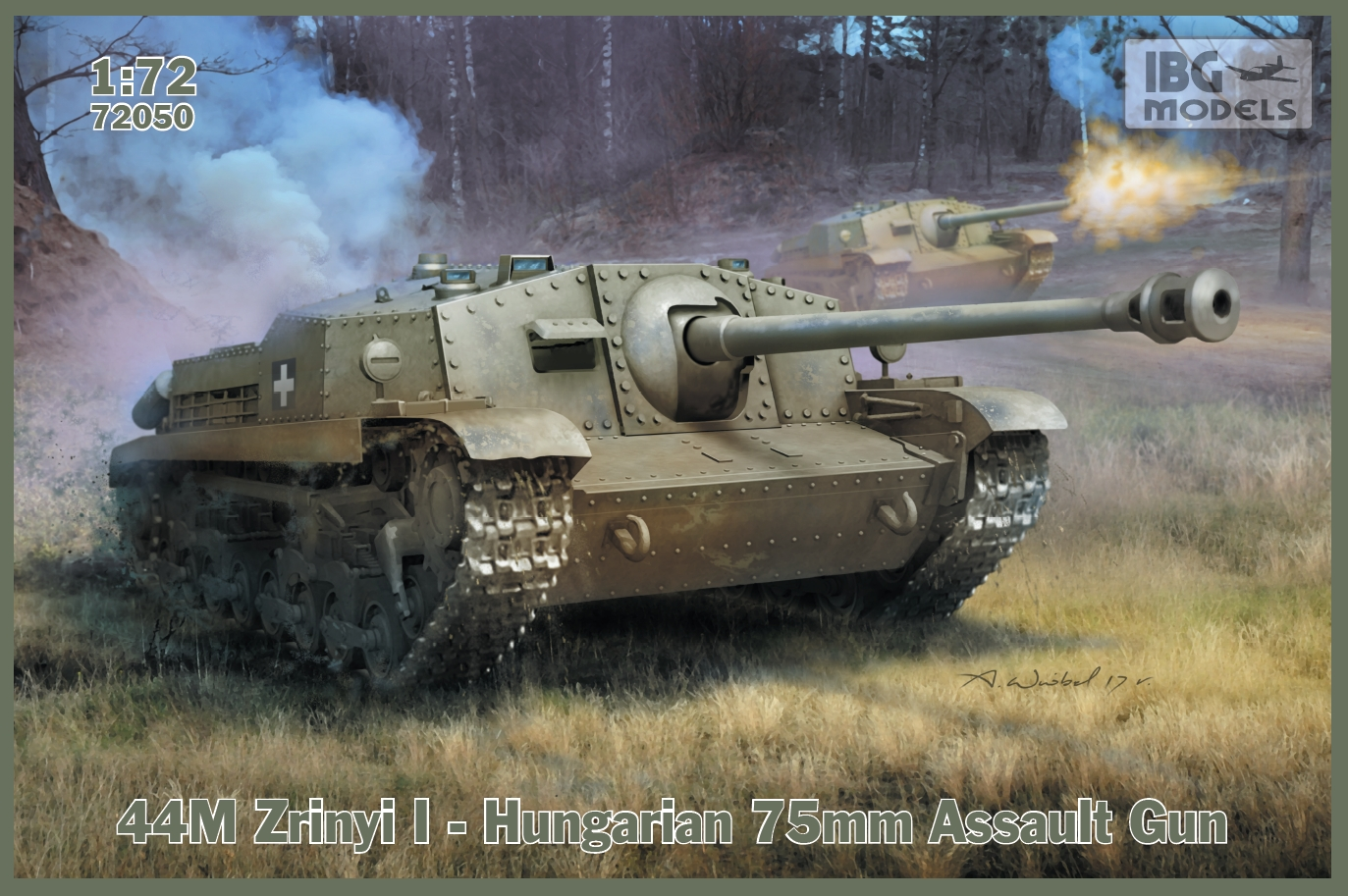 IBG 1/72  44M Zrinyi I - Hungarian 75mm Assault Gun # 72050