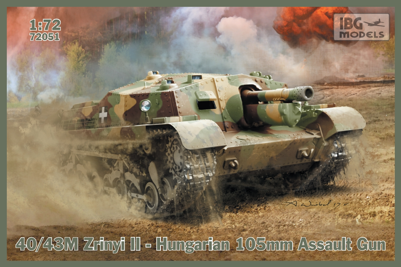 IBG 1/72 40/43M Zrinyi II - Hungarian 105mm Assault Gun # 72051