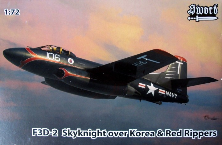 Sword 1/72 F3D-2 Skyknight VF-11/VMF(N)513 # 72094