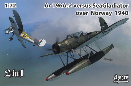 Sword 1/72 Ar 196A-2 versus Sea Gladiator over Norway 1940 # 72120