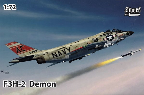 Sword 1\72 McDonnell F3H-2/F-3B Demon # 72122
