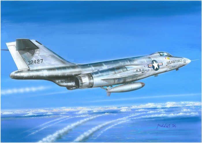 Valom 1/72 McDonnell F-101A + Mk.7 nuclear bomb # 72124