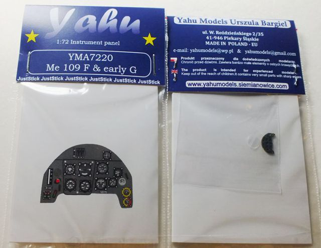 Yahu Models 1/72 Me 109 F & early G # 7220