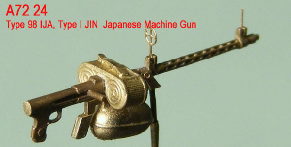 Mini World 1/72 Type 98 IJA, Type I JIN Japanese Machine Gun # 72024