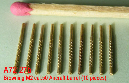 Mini World 1/72 Browning M2 cal.50 Aircraft barrel (10 pieces) # 72027b