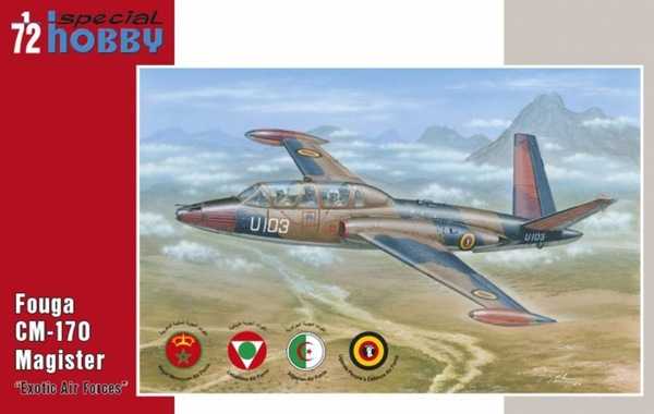 "Special Hobby 1/72 Fouga CM 170 Magister ""Exotic Air Forces"" # 72284"