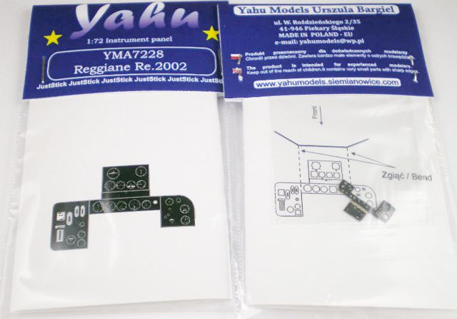 Yahu Models 1/72 Reggiane Re 2002 # 7228