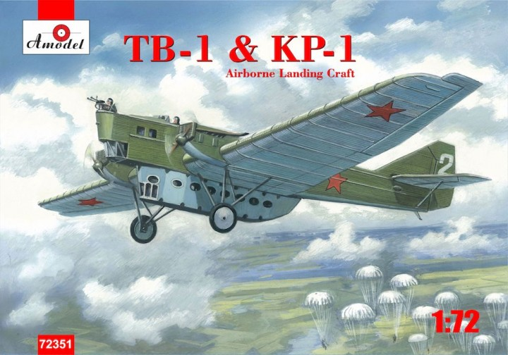 Amodel 1/72 TB-1 & KP-1 Airborne Landing Aircraft # 72351